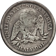 ½ dollar (contremarque) – revers