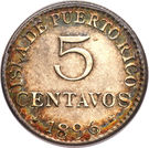 5 centavos - Alfonso XIII – avers