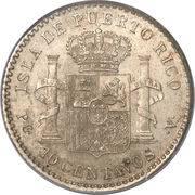 10 centavos - Alfonso XIII – revers