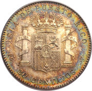 20 centavos - Alfonso XIII – revers