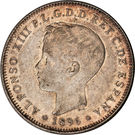 40 centavos - Alfonso XIII – avers