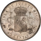 40 centavos - Alfonso XIII – revers