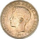 1 peso - Alfonso XIII – avers