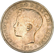 1 peso - Alfonso XIII – avers