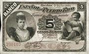 5 Pesos (Queen Regent Maria) – avers