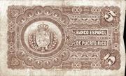 5 Pesos (Queen Regent Maria) – revers