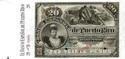 20 Pesos (Regent Queen Maria Cristina) – avers