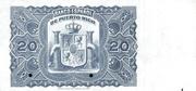 20 Pesos (Regent Queen Maria Cristina) – revers