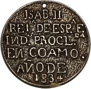 Medal - Isabel II - Proclamation of Coamo – revers