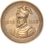 Medal - 400 years of the colonization of Puerto Rico – avers