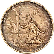 Medal - 400 years of the colonization of Puerto Rico – revers