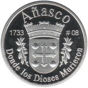 1 Peseta (Añasco) – revers