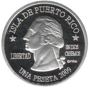 1 Peseta (Arecibo) – avers