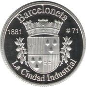 1 Peseta (Barceloneta) – revers
