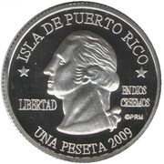 1 Peseta (Cabo Rojo) – avers