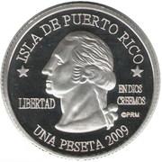 1 Peseta (Carolina) – avers