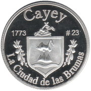 1 Peseta (Cayey) – revers