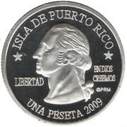 1 Peseta (Ceiba) – avers
