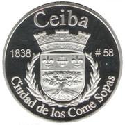 1 Peseta (Ceiba) – revers