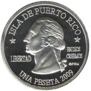 1 Peseta (Culebra) – avers