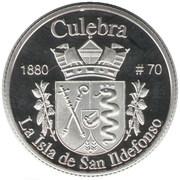 1 Peseta (Culebra) – revers