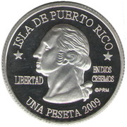 1 Peseta (Guánica) – avers