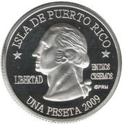 1 Peseta (Guayanilla) – avers