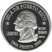 1 Peseta (Guaynabo) – avers