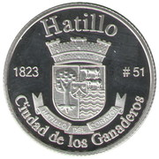 1 Peseta (Hatillo) – revers