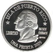 1 Peseta (Humacao) – avers