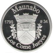 1 Peseta (Maunabo) – revers