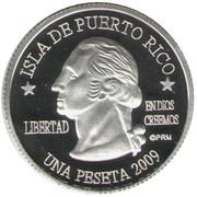 1 Peseta (Mayagüez) – avers