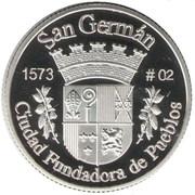 1 Peseta (San Germán) – revers