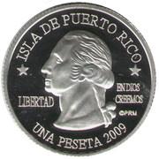 1 Peseta (San Juan) – avers