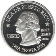 1 Peseta (Santa Isabel) – avers