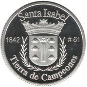 1 Peseta (Santa Isabel) – revers
