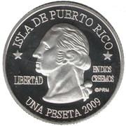 1 Peseta (Trujillo Alto) – avers