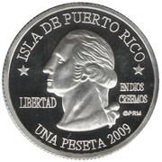 1 Peseta (Utuado) – avers