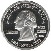 1 Peseta (Vega Alta) – avers
