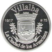 1 Peseta (Villalba) – revers