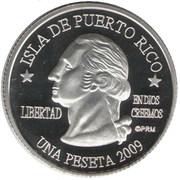 1 Peseta (Yabucoa) – avers