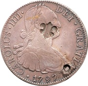 1 Dollar (Contremarque) – avers