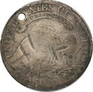 ½ Dollar (Counterstamped) – revers