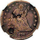 ¼ Dollar (Contremarque) – avers