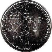 2,50 euros Langue portugaise (cupronickel) – revers