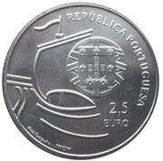 2,50 euros Université de Lisbonne (cupronickel) – avers
