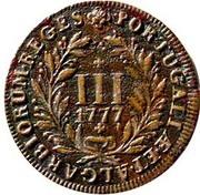 3 réis - Marie I et Pierre III – revers