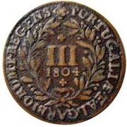 3 réis - Jean Princeps Regent – revers