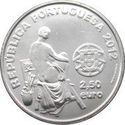 2,50 euros José Malhoa (cupronickel) – avers