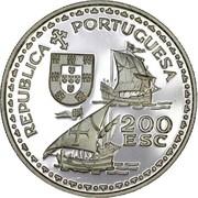 200 escudos  Henri le navigateur (argent) – avers